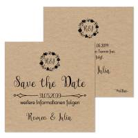 "quadratische Save-the-Date-Karten Vintage-Style ""Romeo & Julia"""