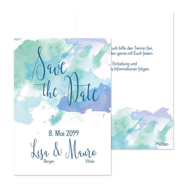 """Save-the-Date Karten zur Hochzeit """"Watercolor"""""""