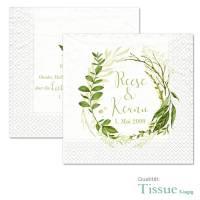 "Servietten bedruckt Greenery Wedding ""Reese & Keanu"""
