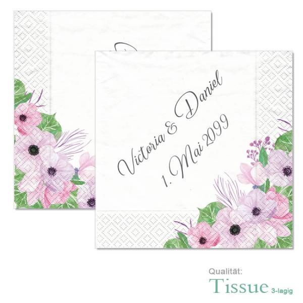 Hochzeitsservietten bedruckt Boho Tissue