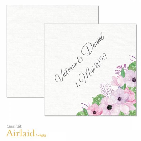 bedruckte Servietten Hochzeit Boho Airlaid