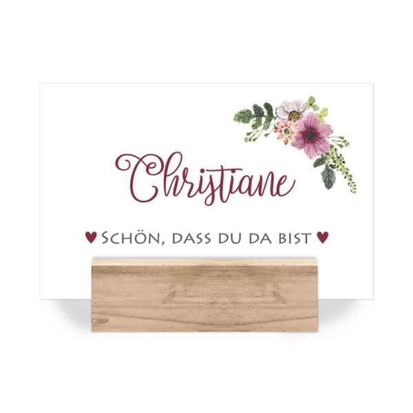 Sitzplatzkarten florale Tischkarten Hochzeit drucken lassen