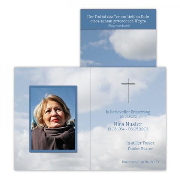 """Pietätvolle Trauerbilder mit Foto - Motiv """"Himmel"""""""