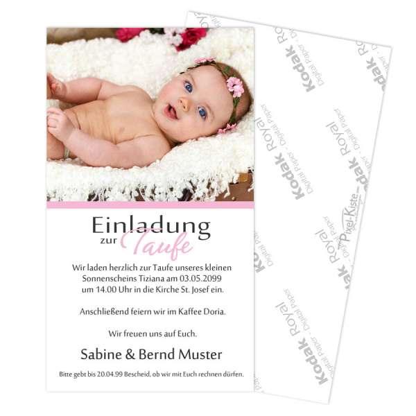 Taufeinladungen Einladungen mit Foto individuell