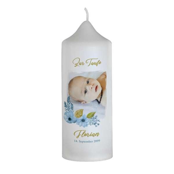 Designkerze zur Taufe oder Namensweihe Florentina / Florian