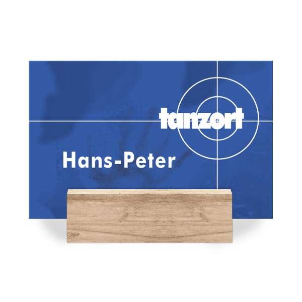 Tischkarten Geburtstag mit Tatort-Zielscheibe