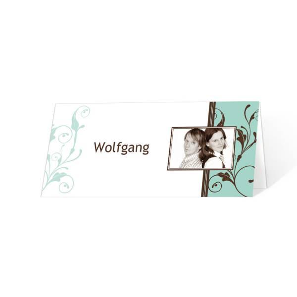 """Tischkarten zur Hochzeit mit oder ohne Foto """"Sandra & Mark"""""""