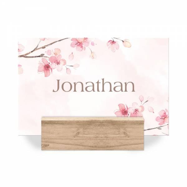 Platzkarten mit Kirschblüten zur Hochzeit online drucken lassen