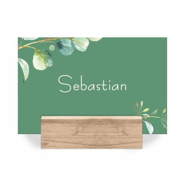 Platzkarten für die Hochzeit Eukalyptus einfach online bestellen