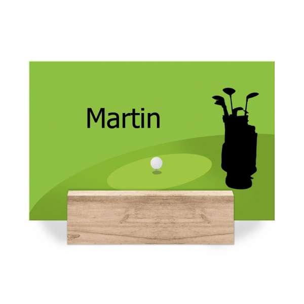 Tischkarten Golfer Geburtstag