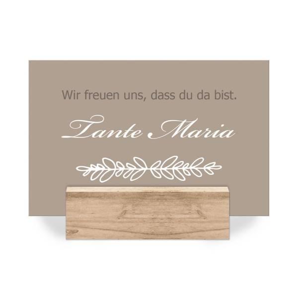 Tischkarten zur Hochzeit in Wunschfarbe «Mette & Haakon»