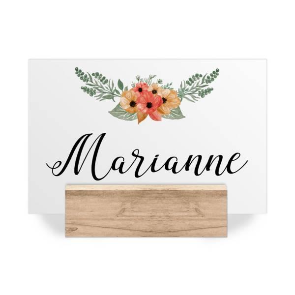 Tischkarten Platzkarten Hochzeit Blumen Blüten