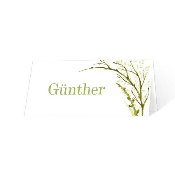 Tischkarten zum Geburtstag Greenery online drucken
