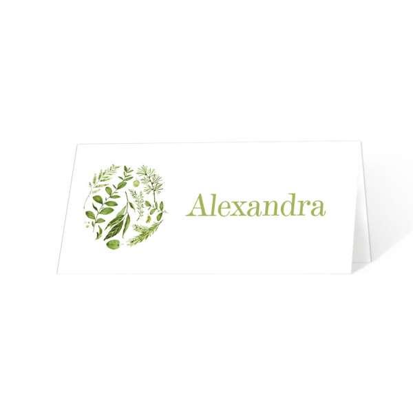 Tischkarte Hochzeit Greenery Wedding  online drucken lassen