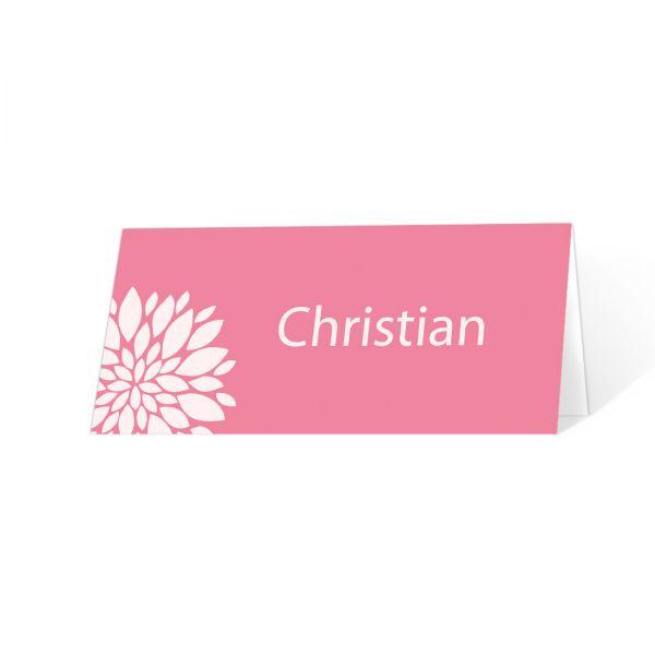 """Tischkarten Kommunion Konfirmation """"Flower"""" drucken lassen"""