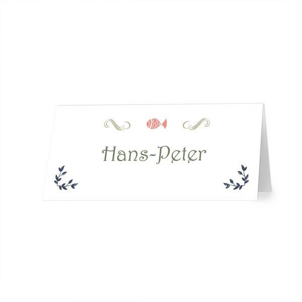 Tischkarten Vintage Hochzeit online drucken
