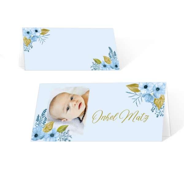 individuelle Platzkarten zur Namensweihe oder Taufe online drucken