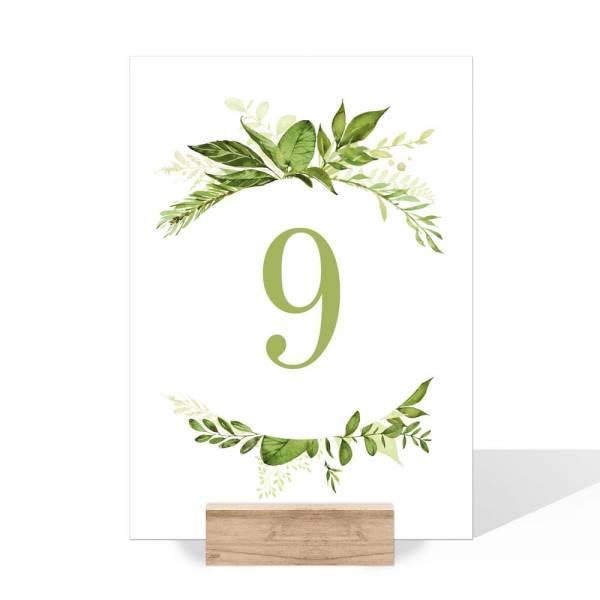 Tischnummern Hochzeit Greenery Wedding online bestellen