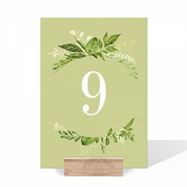 Tischnummern Hochzeit Greenery Wedding online kaufen
