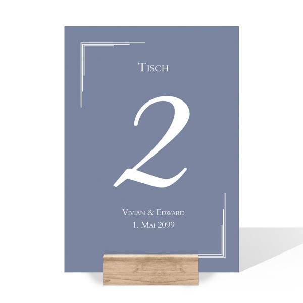 elegante Tischnummern Tischnummerierung Hochzeit Karten