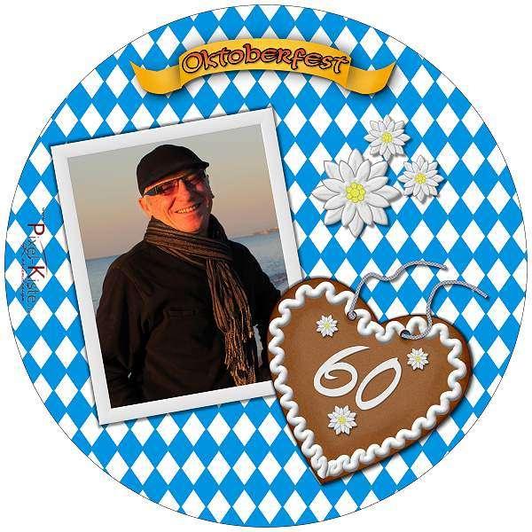 Tortenaufleger Oktoberfest Foto