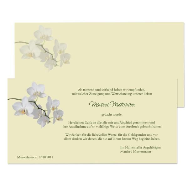 """Trauerdanksagungen """"Orchidee"""""""