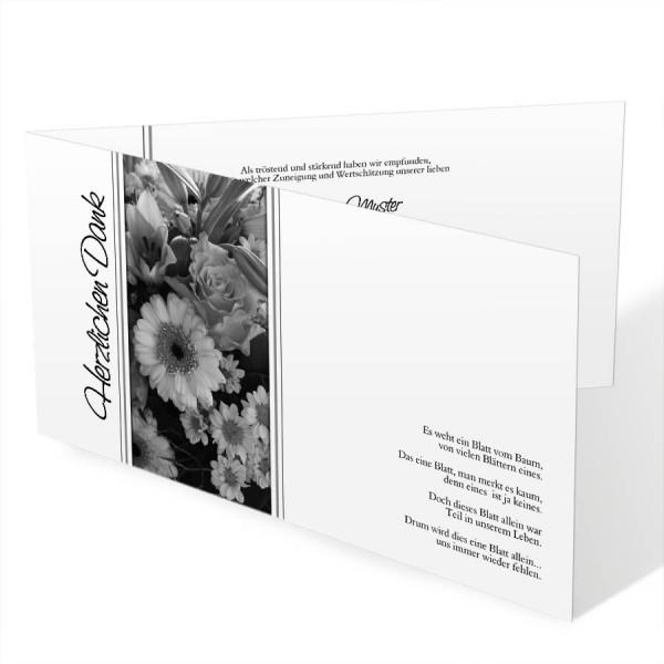 Individuelle Trauerdanksagungskarten mit Foto