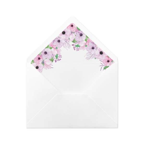 """DIY Envelope Liner Hochzeit gedruckt """"Victoria & Daniel"""""""