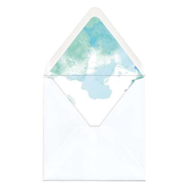 "Envelope Liner Umschlag-Liner Hochzeit gedruckt ""Watercolor"""