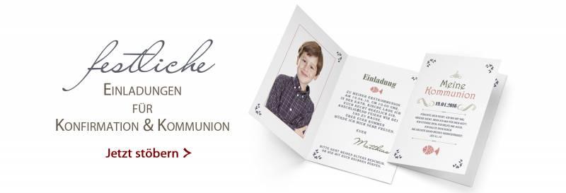 Einladungen Zur Kommunion Und Konfirmation