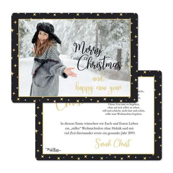 """Weihnachtskarten """"Winter Wonderland"""" mit Foto"""