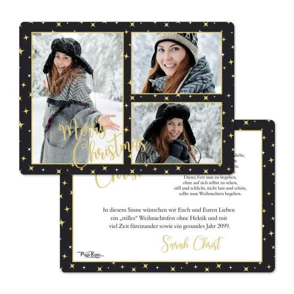 """Weihnachtskarten """"Winter Wonderland"""" mit drei Fotos"""