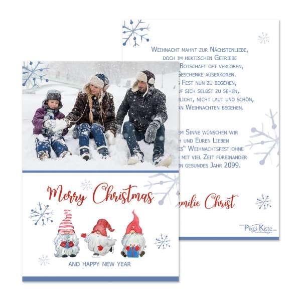 """Weihnachtsgrußkarten """"Wichtel"""" mit Foto"""