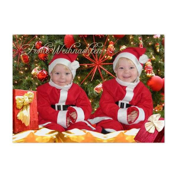 Weihnachtskarte Fotomontage