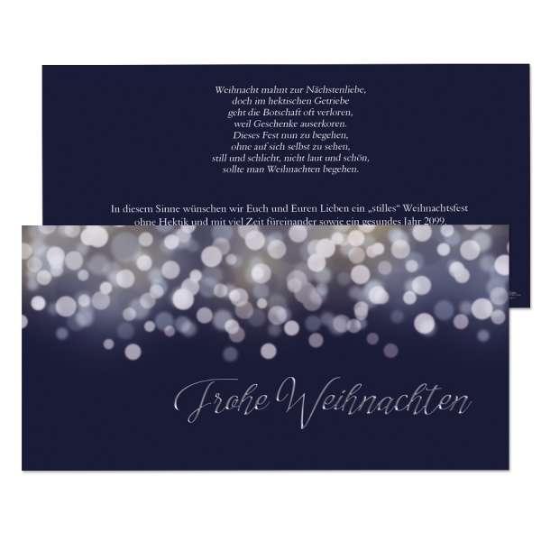 Weihnachtskarten Bokeh Nachtblau Gewerbe Privat