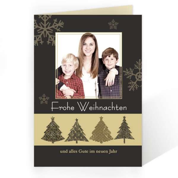 edle Weihnachtskarte mit Tannenbaum