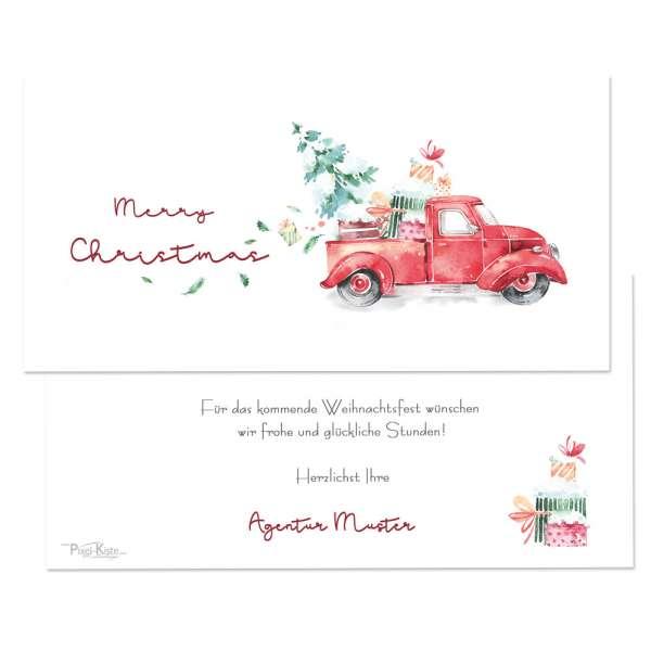 Wunderschöne Weihnachtskarten mit Christmastruck Watercoloroptik drucken