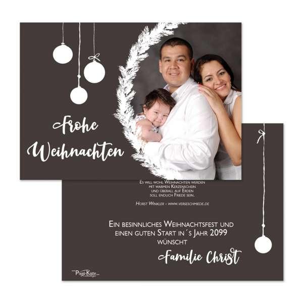 stilvolle Weihnachtskarten individuell mit Foto gedruckt - freie Farbgestaltung