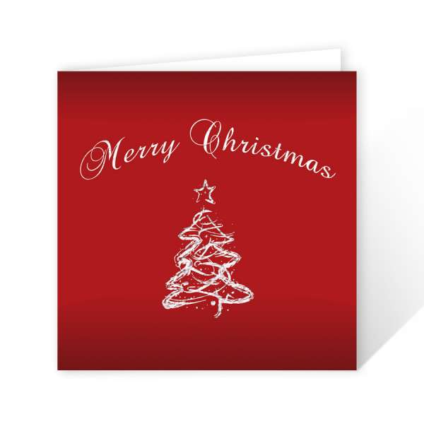 gewerbliche Weihnachtskarten schlicht