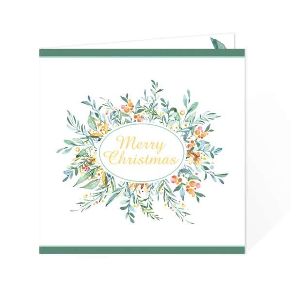 stilvolle quadratische Weihnachtskarten für Firmen oder private Grüße