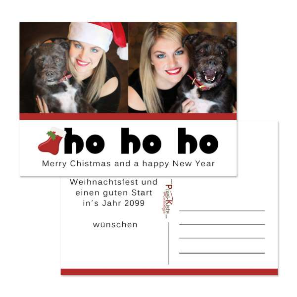 Ho Ho Ho Weihnachtskarten mit Foto online bestellen