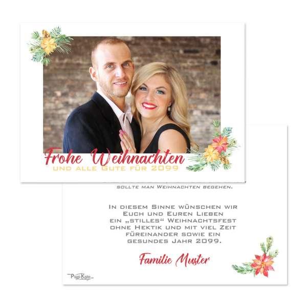 """festliche Weihnachtskarten mit Foto """"Weihnachtsstern"""" online drucken"""