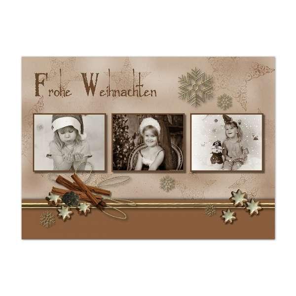 Weihnachtskarte Zimtstern bestellen