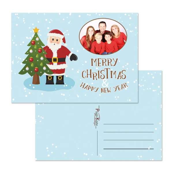 Santa Claus Weihnachtskarten mit Foto günstig drucken lassen