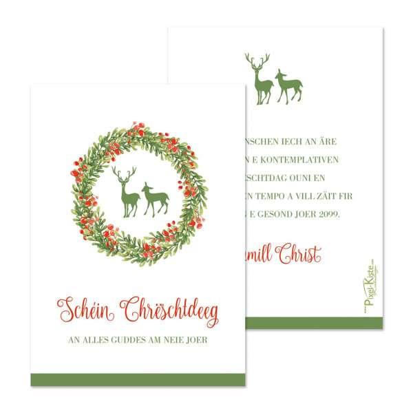 Weihnachtskarten in traditionellen Farben individuell gestalten lassen
