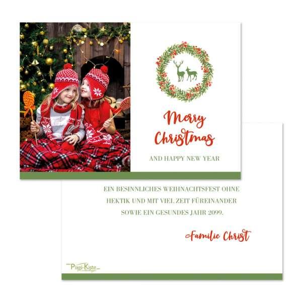personalisierte Weihnachtskarten in traditionellen Farben jetzt gestalten lassen