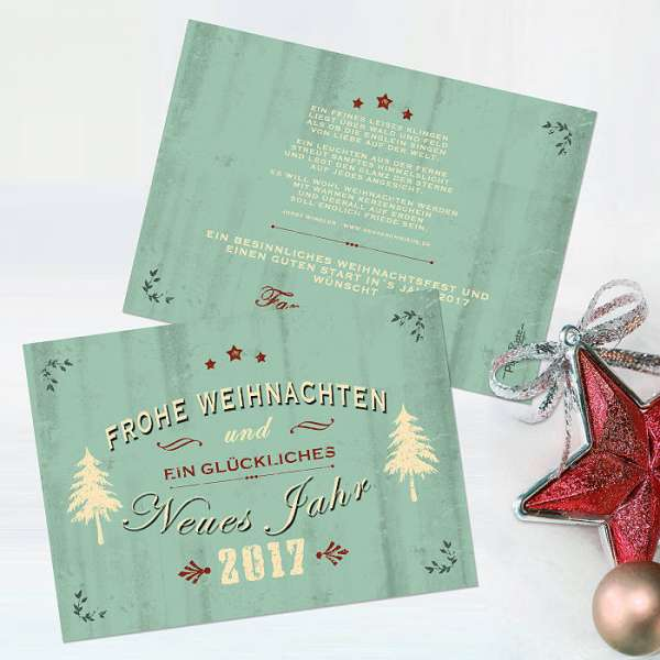 Weihnachtskarte im Vintage-Design