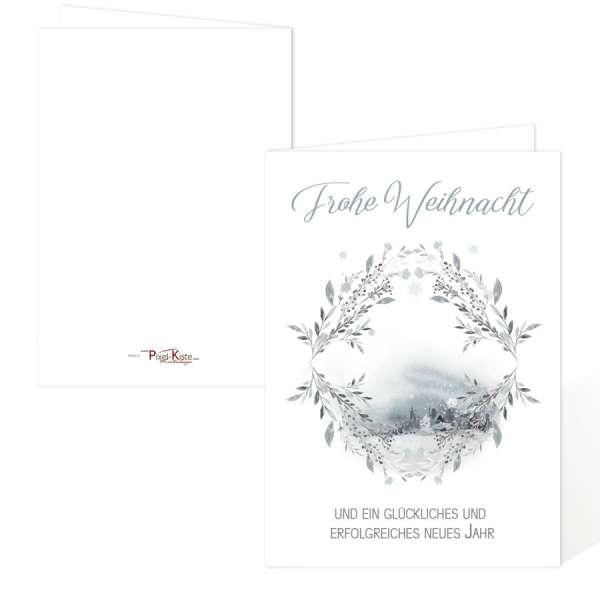 Weihnachtskarten Winterland im Retro-Design gestalten und drucken lassen