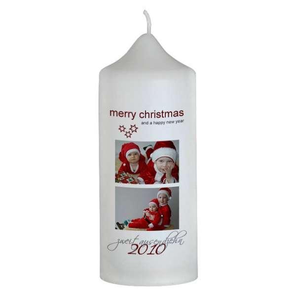 Weihnachtskerze mit Foto