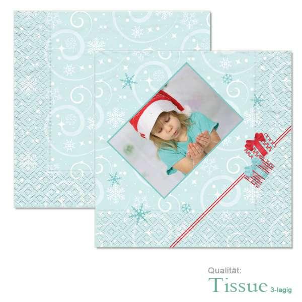 Weihnachten Serviette mit Foto